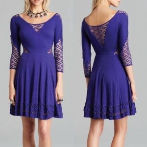Free People To The Point Fit And Flare Dress Med